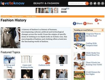 fashion-history.lovetoknow.com screenshot