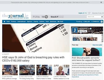 Main page screenshot of thejournal.ie