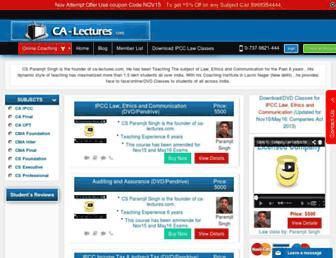 ca-lectures.com screenshot