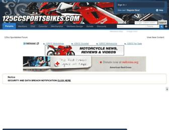 125ccsportsbikes.com screenshot