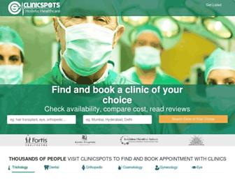 clinicspots.com screenshot