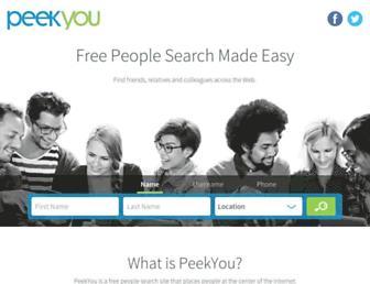 peekyou.com screenshot