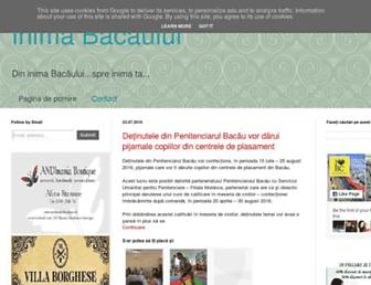 Main page screenshot of inimabacaului.ro