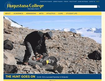 Main page screenshot of augustana.net