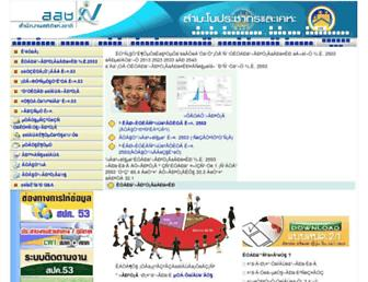 popcensus.nso.go.th screenshot