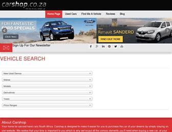 carshop.co.za screenshot