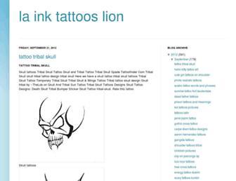 la-ink-tattoos-lion.blogspot.com screenshot