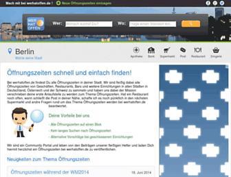 werhatoffen.de screenshot
