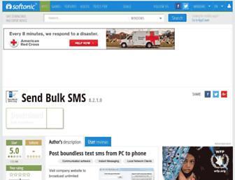 send-bulk-sms.en.softonic.com screenshot