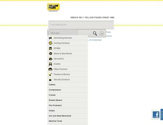 Main page screenshot of yellowpages.co.in