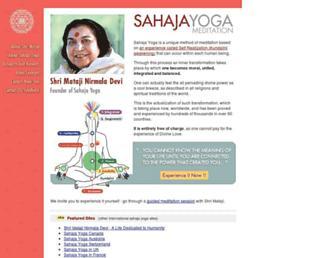 Main page screenshot of sahajayoga.org