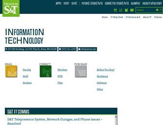it.mst.edu screenshot