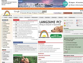 Main page screenshot of seniorennet.nl