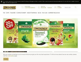 Thumbshot of Twinings.co.uk