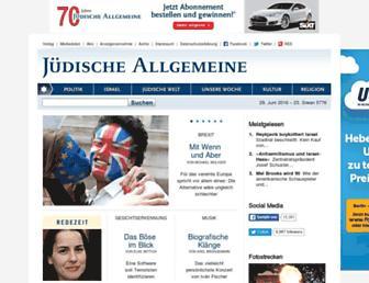 Thumbshot of Juedische-allgemeine.de