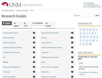 libguides.unm.edu screenshot