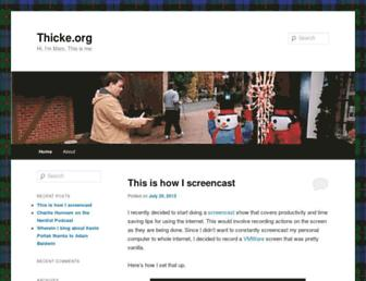 Main page screenshot of thicke.org