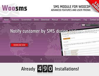 woo-sms.net screenshot