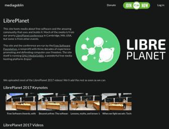 media.libreplanet.org screenshot