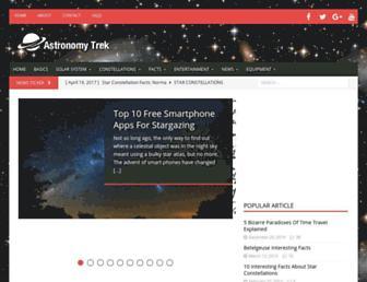 astronomytrek.com screenshot