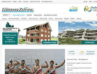 Main page screenshot of luzernerzeitung.ch