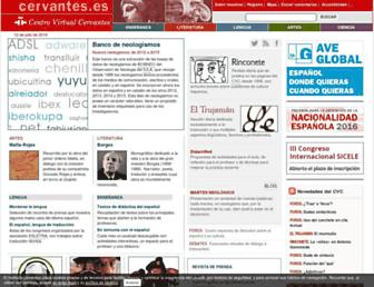 Main page screenshot of cvc.cervantes.es