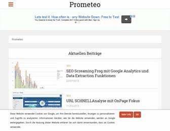 Main page screenshot of prometeo.de