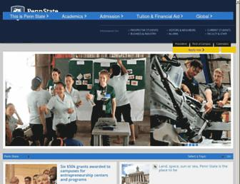 Main page screenshot of psu.edu