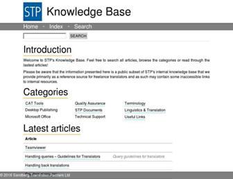 kb.stptrans.com screenshot