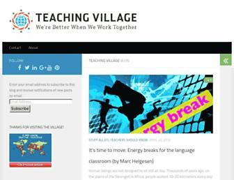 Main page screenshot of teachingvillage.org
