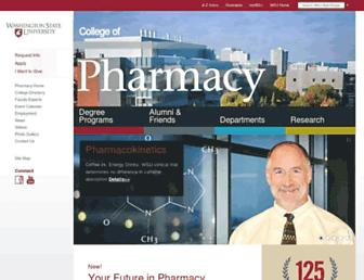 pharmacy.wsu.edu screenshot