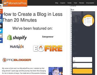 Thumbshot of Monetizepros.com