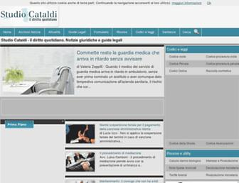Main page screenshot of studiocataldi.it