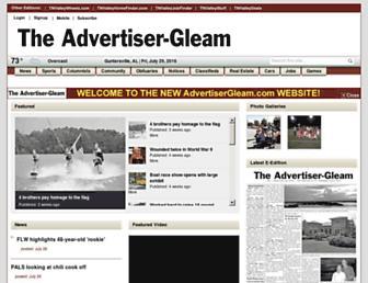 advertisergleam.com screenshot