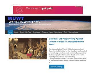 Thumbshot of Wattsupwiththat.com