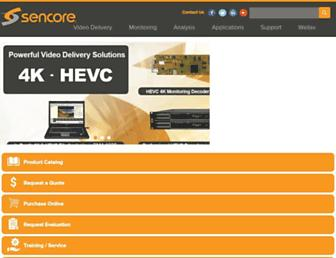 sencore.com screenshot
