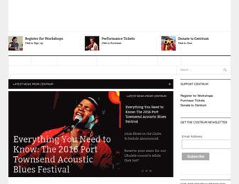 Main page screenshot of centrum.org