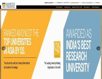 amity.edu screenshot