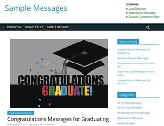 samplemessages.com screenshot