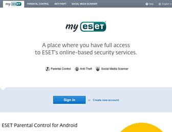 my.eset.com screenshot