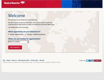 careers.bankofamerica.com screenshot