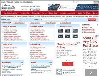 studyabroaduniversities.com screenshot
