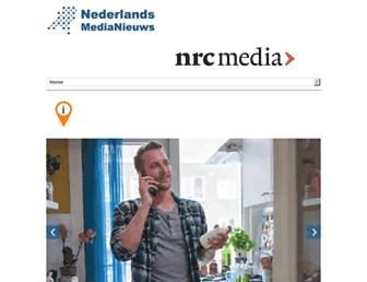 Main page screenshot of nederlandsmedianieuws.nl