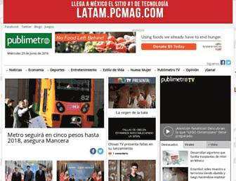 Main page screenshot of publimetro.com.mx