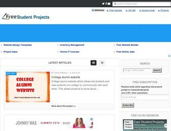 Thumbshot of Freestudentprojects.com