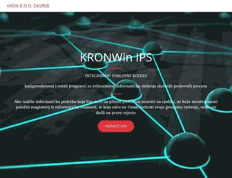 Main page screenshot of kronwin.hr