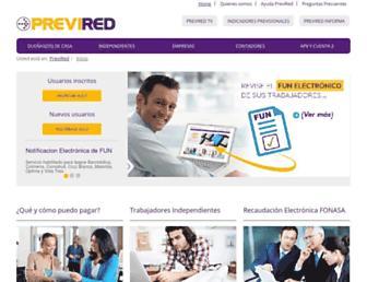 previred.com screenshot