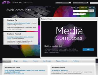 community.avid.com screenshot
