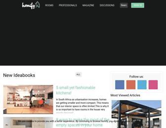 homify.co.za screenshot