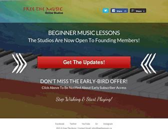 freethemusic.ca screenshot